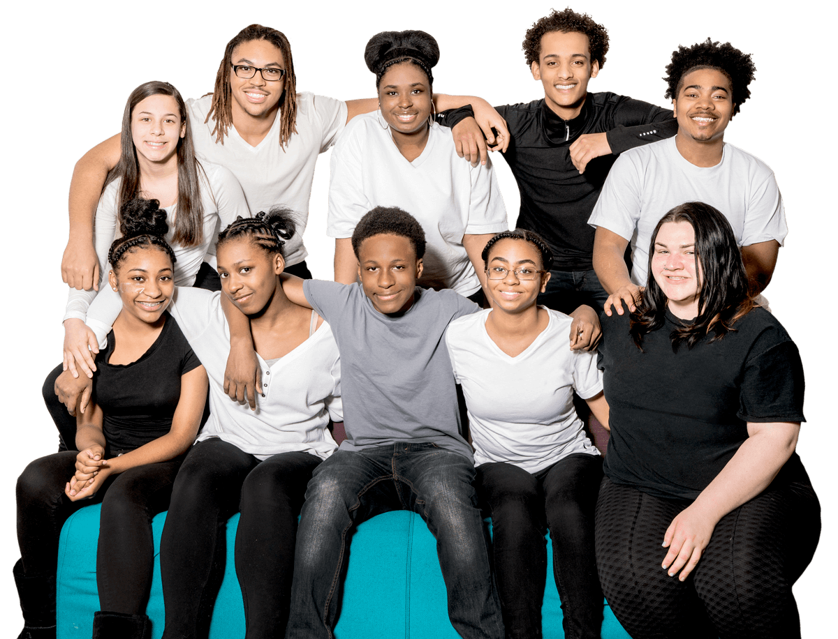 ten young people smiling for the camera